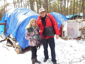 with Tara-Jean Vitale from NJ Discover at Tent City in February