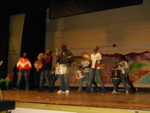the Weequahic High drum corps in a mini-concert for us 50 year alums. they dazzled us.