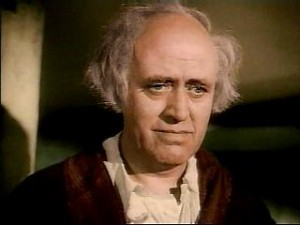 Scrooge on Christmas morning.  Of course played by Alastair Sim.  how i love his performance
