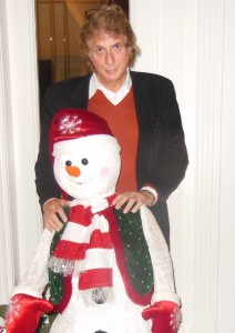 me and my holiday snowman