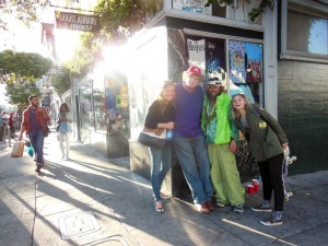 At Haight Ashbury. My hair is longer than his.