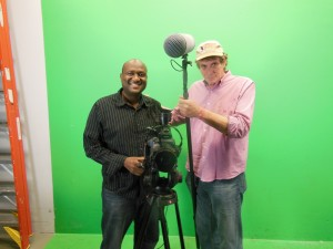 on the  set of another documentary in Philadelphia with Don Ward.