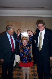 at a dinner at NY Hilton  with James Earl  Jones & Dr. Ruth who orchestrated pix