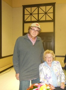 me and Dr Ruth at a Rutgers lecture. She's standing up