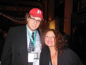 with actress Aida Turturro from 'The Soprano's'