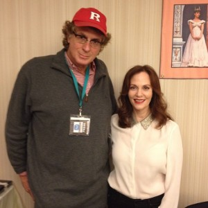with actress Lesley Ann Warren