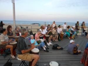 local percussionists on the boardwalk. part of the musical magic of Asbury Park