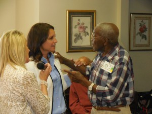 Malcom Murray  engaging the Mayor of Middletown, Stephanie Murray
