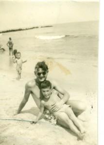 dad & me belmar 1948