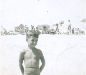 My first memory sort of. Belmar beach summer of '48