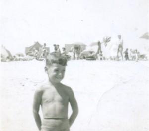 My first memory sort of. Belmar beach summer of '48