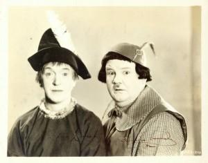 Laurel & Hardy in costume