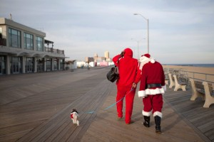 one of my favorite improv Christmas pixs. I got a chance to play a large red elf on Asbury Park Boardwalk